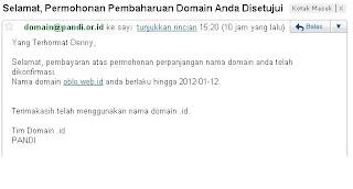 perpanjangan domain