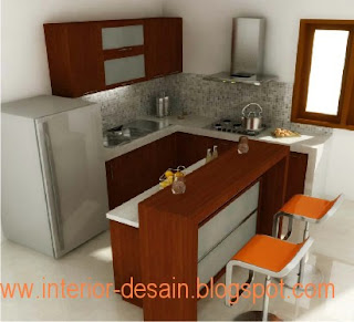 interior design home: Kitchen Set Minimalis Model U
