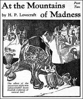At the Mountains of Madness, illustrazione di Howard V. Brown su Astounding, marzo 1936