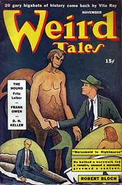 Weird Tales, novembre 1942, copertina