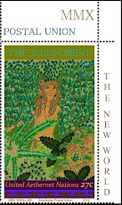RAINFORESTS OF THE NEW WORLD: artist stamps from the United Aethernet Nations