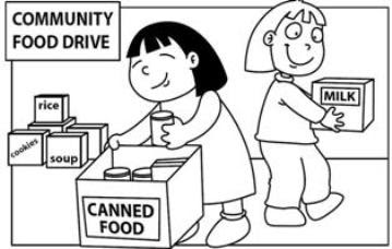 Pics For > Canned Food Drive Clipart Black And White