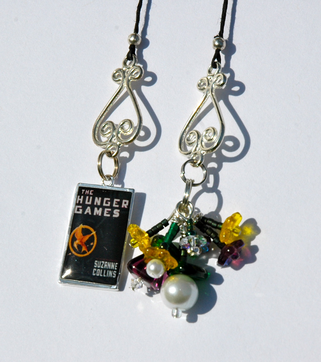Flowers For Rue Beaded Bookmark
