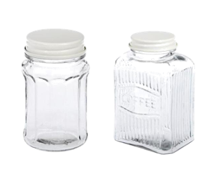 Vintage look glass jars by dotcomgiftshop
