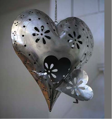 Hanging heart lantern by Heart and Parcel