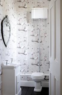 Flamingo wallpaper at Myddelton House