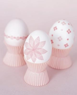 Tissue paper eggs by Martha Stewart