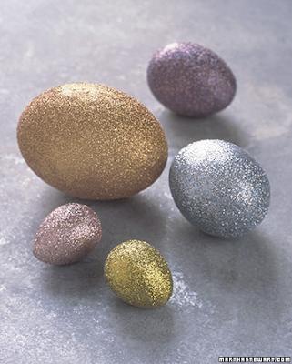 Glitter eggs by Martha Stewart