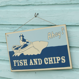 Fish and Chips sign by Garden Trading