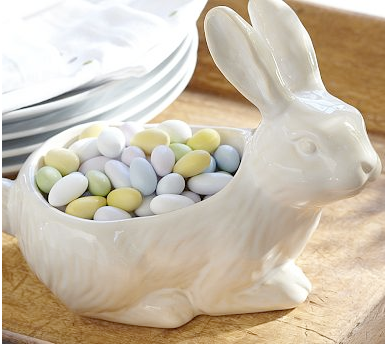 Easter bunny snack bowl by Pottery Barn