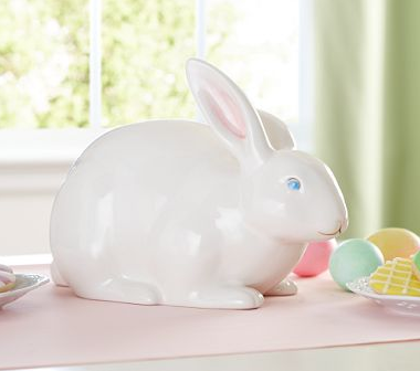 Ceramic bunny décor from Pottery Barn