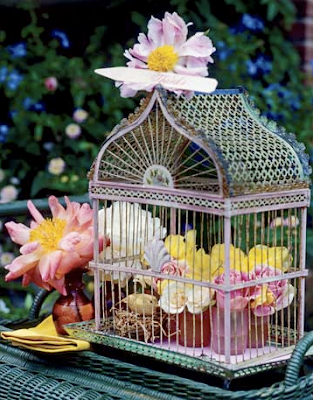 Birdcage Centerpiece by Country Living