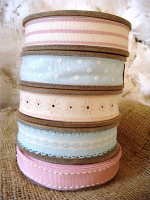 Spring cotton ribbons by The Seasonal Barn