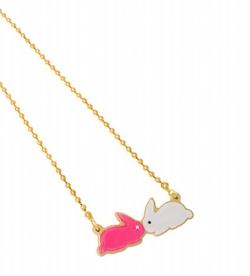 Small bunny kisses necklace by Anna Lou