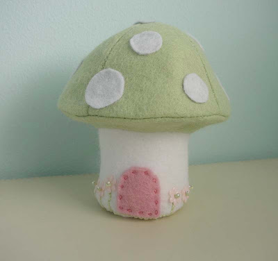 Hush green felt Easter mushroom