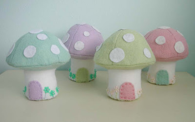 Easter felt mushrooms