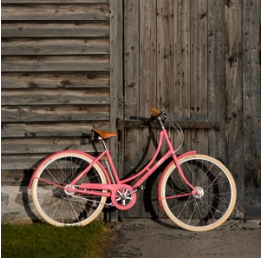 Blush Pink Pashley Poppy bicycle
