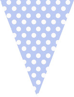 Blue polka dot bunting