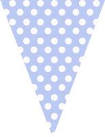 Blue polka dot bunting