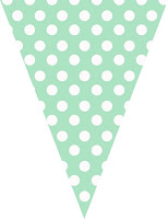 Green polka dot bunting