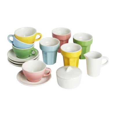 10-piece coffee/tea set from Ikea