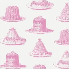 Jellies & cakes wallpaper at Thornback & Peel