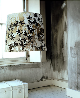 Oversized lampshade by Clarissa Hulse