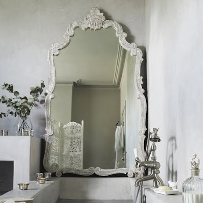 Distressed mirror from Graham & Green