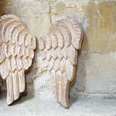 Carved Angel wings from Cox & Cox