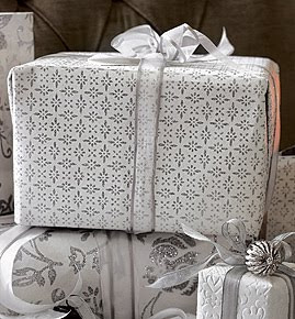 Glitter diamond wrapping paper by The White Company