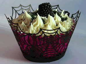 Blackberry cupcakes by Torie Jayne