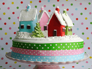 Village Christmas cake by Torie Jayne
