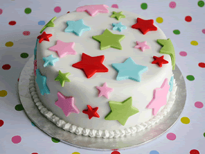 Star Christmas cake by Torie Jayne