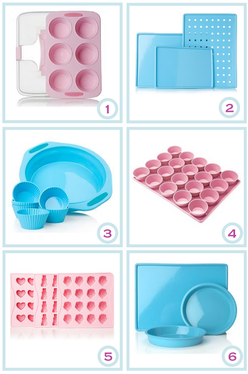 Pastel silicone bakeware by Torie Jayne