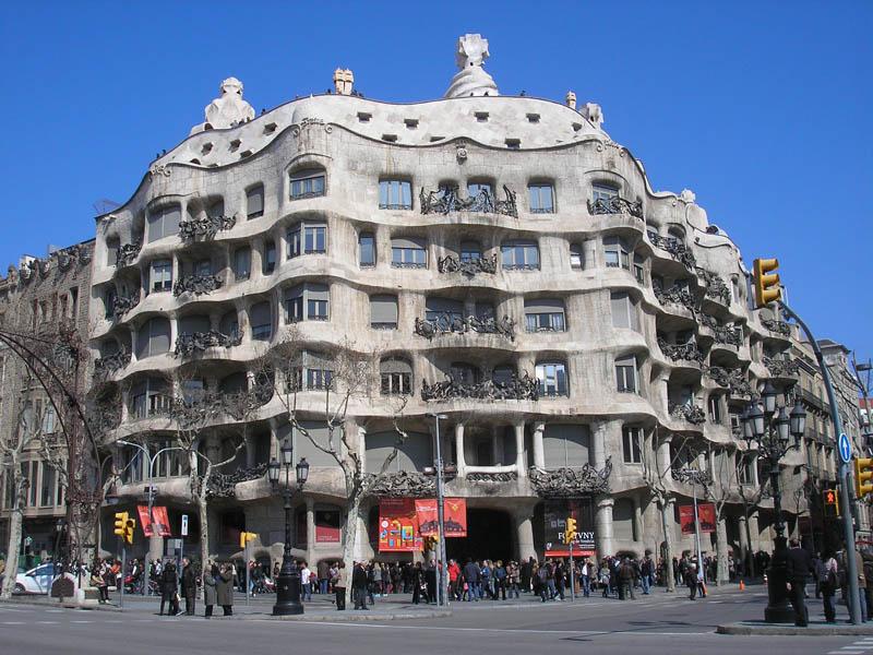 Mis viajes por el mundo casa mila la pedrera barcelona - Casa la pedrera gaudi ...