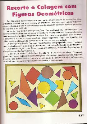 ARTES Arte : Recorte e colagem com figuras geométricas. para crianças