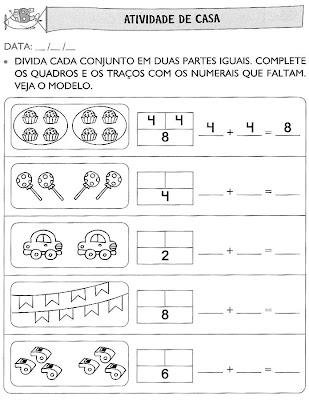 Atividades+para+Casa+(55) Atividades de matemática. para crianças