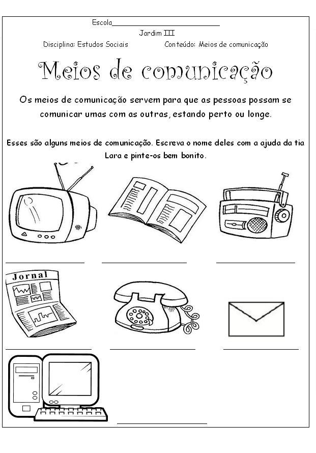 ATIVIDADES MEIOS DE COMUNICA    O