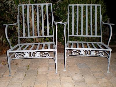 plain elegant antiques salterini wrought iron patio furniture