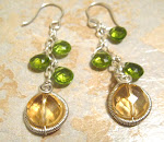 Sunny Citrine and Peridot Earrings