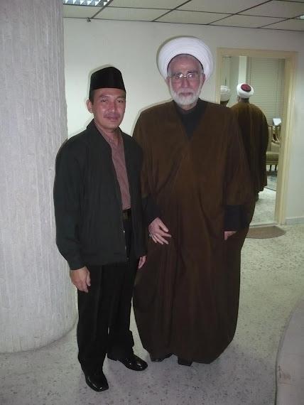 BERSAMA SYAIKH AHMAD ZEN KETUA TAJAMMU'UL ULAMA' AL MUSLIMIN LIBANON