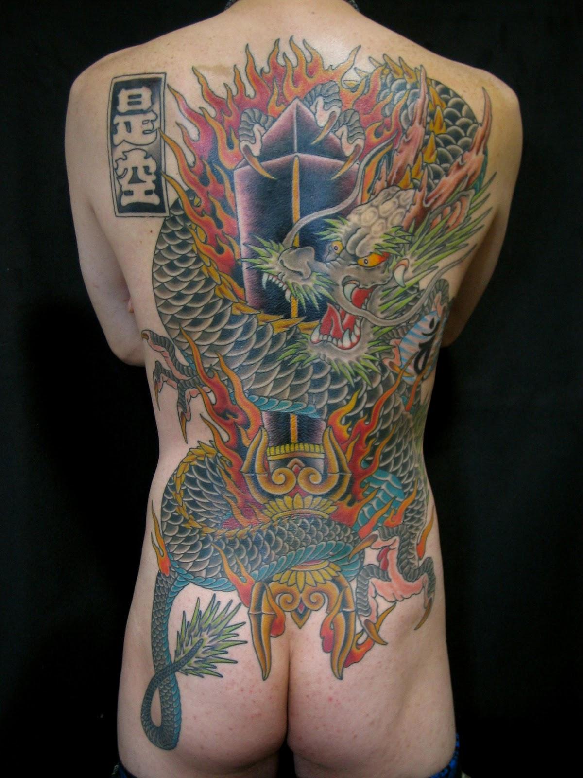 Фото тату якудзы на спине
