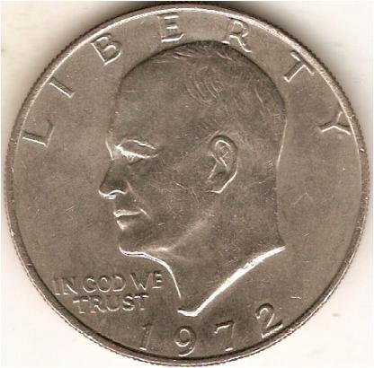 American Dollar Coin 1972 American Eagle Silver Dollar