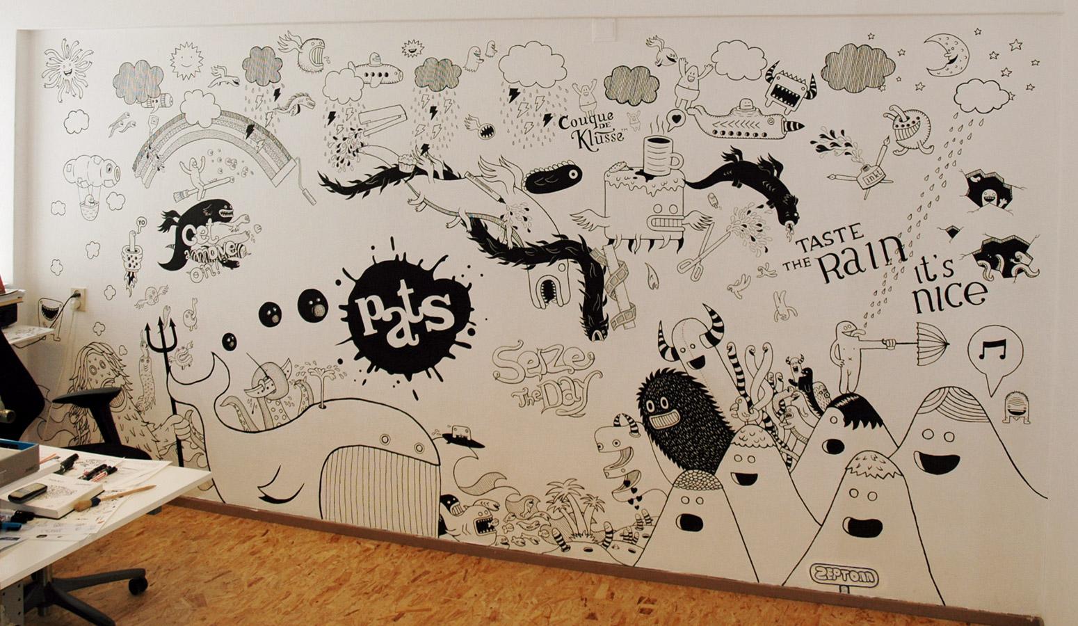 Viscom year 1 february 2011 for Cool wall art drawings