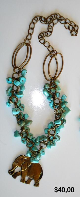 Frida regalos collares de piedras celestes - Piedras para collares ...