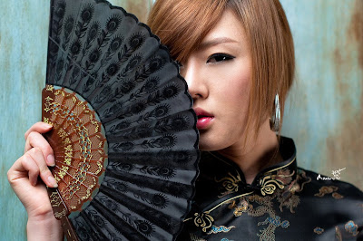 korean babe in a chinese dress
