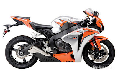 New Honda CBR 1000 RR Silver Orange Sport 2010