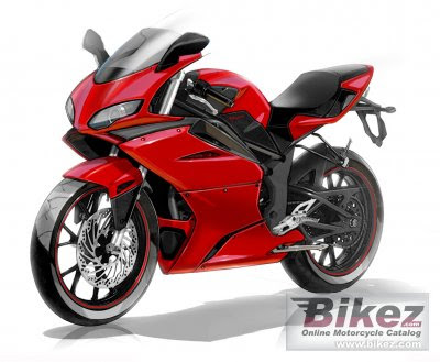 Minerva Megelli 125 R Red Sport Bike 2
