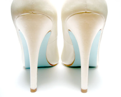 Blue Wedding Shoes For Bride Low Heel