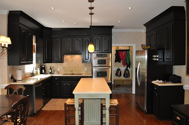 Antique Black Painted Kitchens